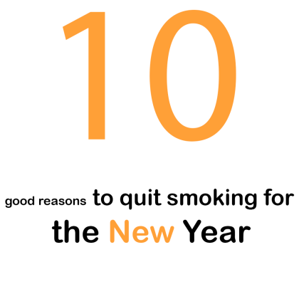 10 good reasons to quit smoking for the New Year