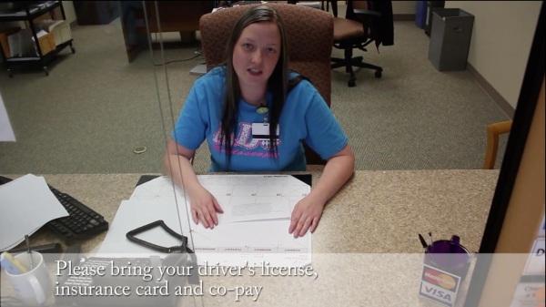 Kayla Check In desk ADC Endoscopy Center